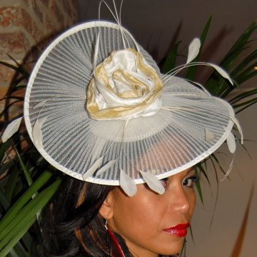 Ivory and Gold Hatinator - sn767 aeb2e02d04d